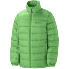 Marmot Zeus Down Jacket - 650 Fill Power (For Boys) in Bright Grasss - Closeouts