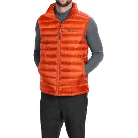 Marmot Zeus Down Vest - 700 Fill Power (For Men) in Sunset Orange - Closeouts