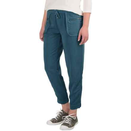 Marrakech Cabo Cropped Joggers (For Women) in Sea - Closeouts