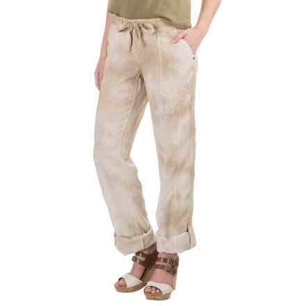 Marrakech Charlotte Roll-Tab Pants - TENCEL®-Linen (For Women) in Sandy/Sweet - Closeouts