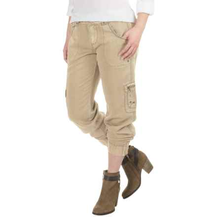 Marrakech Deidre Belted Cargo Pants (For Women) in Sandy - Closeouts