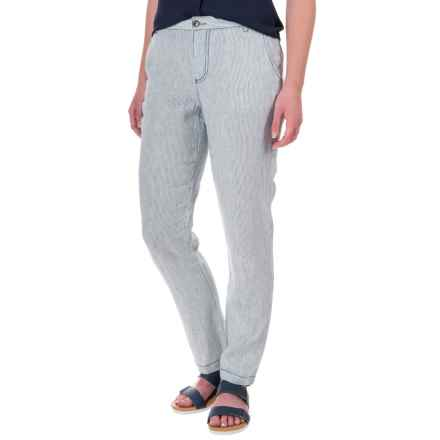Marrakech Linen Pants (For Women) in Midnight Stripe - Closeouts