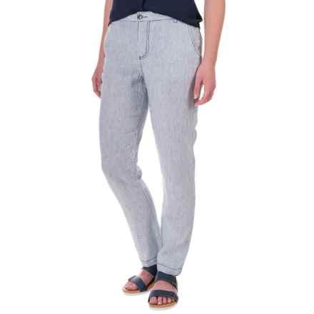 Marrakech Linen Pants (For Women) in Navy Stripe - Closeouts