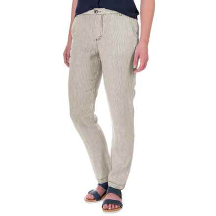 Marrakech Linen Pants (For Women) in Sahara Stripe - Closeouts