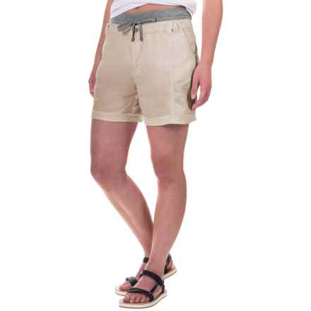Marrakech Palmdale Shorts - Linen (For Women) in Dove - Closeouts
