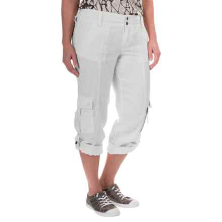 Marrakech Turner Linen Capris (For Women) in White - Closeouts
