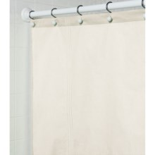"Martha Stewart 200 TC Cotton Sateen Shower Curtain - 72x72"" in Cream - Closeouts"