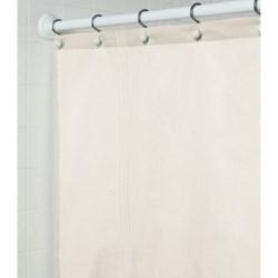 """Martha Stewart 200 TC Cotton Sateen Shower Curtain - 72x72"""" in Cream"""
