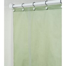 "Martha Stewart 200 TC Cotton Sateen Shower Curtain - 72x72"" in Green - Closeouts"
