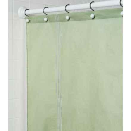 "Martha Stewart 200 TC Cotton Sateen Shower Curtain - 72x72"" in Green - Closeouts"