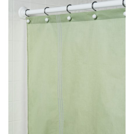 "Martha Stewart 200 TC Cotton Sateen Shower Curtain - 72x72"" in Green"