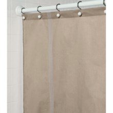 "Martha Stewart 200 TC Cotton Sateen Shower Curtain - 72x72"" in Taupe - Closeouts"