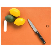 "Martha Stewart Collection Poly Cutting Board - Non-Slip, 11x14.5"" in Orange - Closeouts"