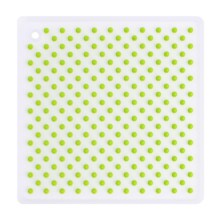 Martha Stewart Collection Trivet - Silicone in Natural/Green - Closeouts
