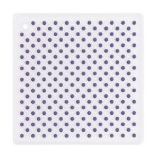 Martha Stewart Collection Trivet - Silicone in Natural/Purple - Closeouts