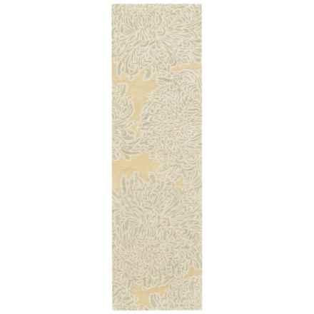"Martha Stewart Floral Floor Runner - Hand-Tufted Wool, 2'3""x8' in Saguaro - Closeouts"