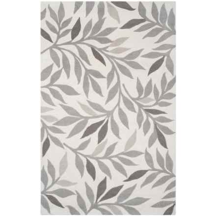 Martha Stewart Hand-Tufted Wool Area Rug - 4x6' in Cement - Closeouts