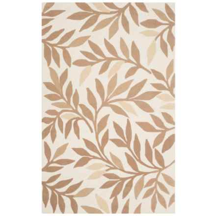Martha Stewart Hand-Tufted Wool Area Rug - 4x6' in Natural Twine - Closeouts