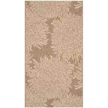 "Martha Stewart Indoor-Outdoor Area Rug - 4'x5'7"" in Brown/Cream - Closeouts"