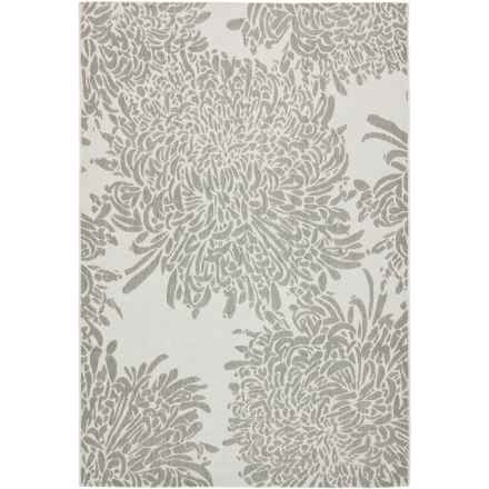 "Martha Stewart Indoor-Outdoor Area Rug - 4'x5'7"" in Grey - Closeouts"