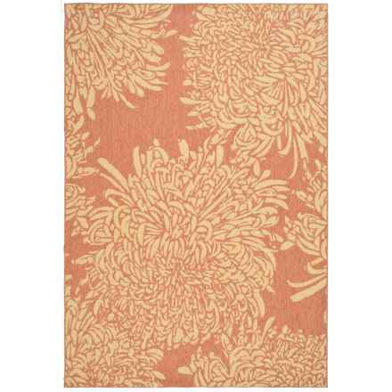 "Martha Stewart Indoor-Outdoor Area Rug - 4'x5'7"" in Terracotta/Beige - Closeouts"