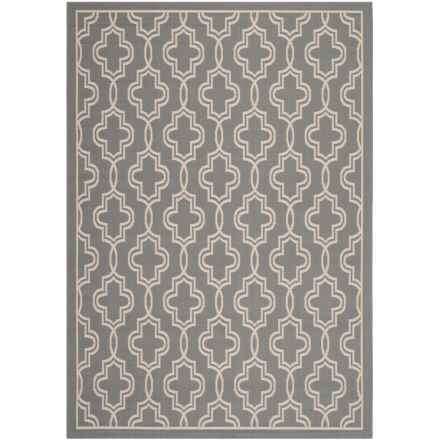 "Martha Stewart Indoor-Outdoor Area Rug - 5'3""x7'7"" in Anthracite/Beige - Closeouts"