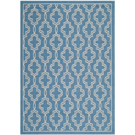 "Martha Stewart Indoor-Outdoor Area Rug - 5'3""x7'7"" in Blue/Beige"