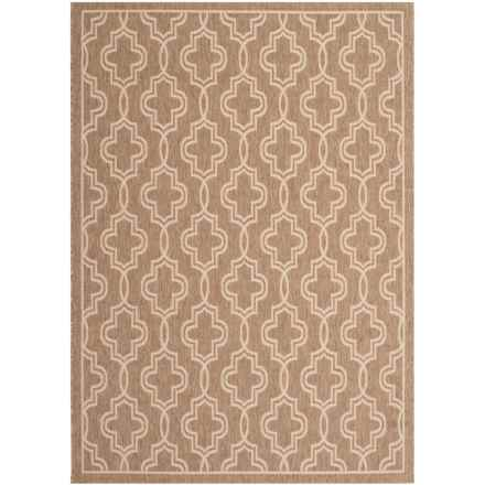 "Martha Stewart Indoor-Outdoor Area Rug - 5'3""x7'7"" in Brown/Beige - Closeouts"