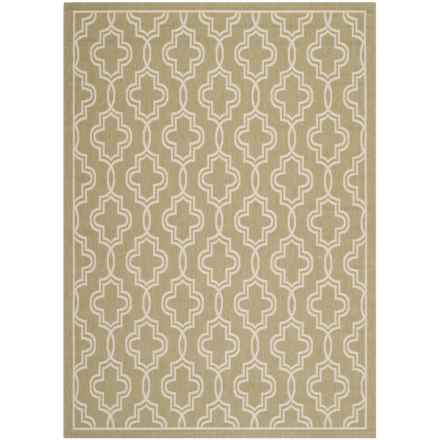 "Martha Stewart Indoor-Outdoor Area Rug - 5'3""x7'7"" in Green/Beige - Closeouts"