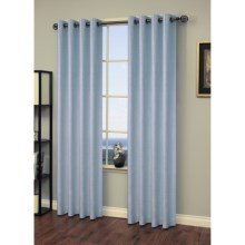 "Martha Stewart Living Chambray Curtains - 104x84"", Grommet-Top in Waterfall - Closeouts"
