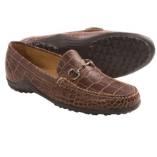 Martin Dingman Bill Horse Bit Loafers (For Men) in Old Rust Alligator Grain - Closeouts