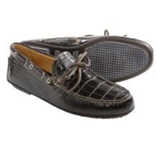 Martin Dingman Countrywear Osage Crocodile Grain Driver Shoes - Slip-Ons (For Men) in Black Walnut - Closeouts