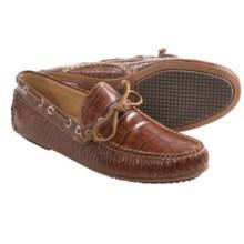 Martin Dingman Osage Crocodile Grain Driver Shoes - Slip-Ons (For Men) in Cognac - Closeouts