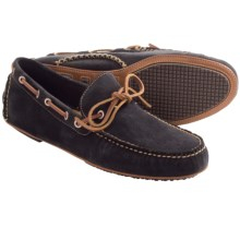 Martin Dingman Osage Driver Shoes - Leather, Slip-Ons (For Men) in Navy Suede - Closeouts