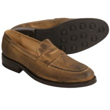 Martin Dingman Rudyard Shoes - Leather Penny Loafers (For Men) in Tobacco - Closeouts