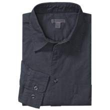 Martin Gordon Cotton Canvas Sport Shirt - Long Sleeve (For Men) in Navy - Closeouts