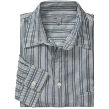 Martin Gordon Cotton Stripe Shirt - Long Sleeve (For Men) in Indigo/White - Closeouts