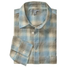Martin Gordon Crinkle Cotton Plaid Shirt - Long Sleeve (For Men) in Blue - Closeouts