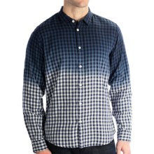 Martin Gordon Dip-Dyed Check Sport Shirt - Long Sleeve (For Men) in Navy - Closeouts