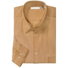 Martin Gordon Dobby Sport Shirt - Silk-Cotton, Long Sleeve (For Men) in Mustard - Closeouts