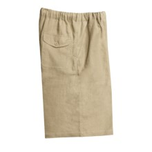Martin Gordon Drawstring Shorts - Linen (For Men) in Khaki - Closeouts