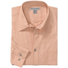Martin Gordon Fancy Stripe Shirt - Cotton, Long Sleeve (For Men) in Peach - Closeouts