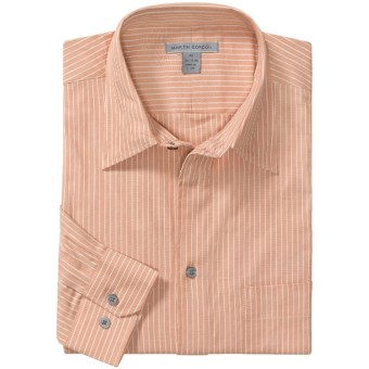 Martin Gordon Fancy Stripe Shirt - Cotton, Long Sleeve (For Men) in Peach