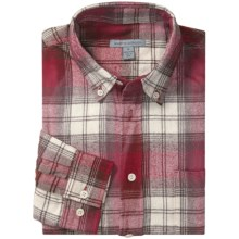 Martin Gordon Flannel Plaid Sport Shirt – Cotton, Long Sleeve (For Men) in Red Plaid - Closeouts