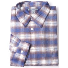Martin Gordon Flannel Plaid Sport Shirt - Long Sleeve (For Men) in Blue/Brown - Closeouts