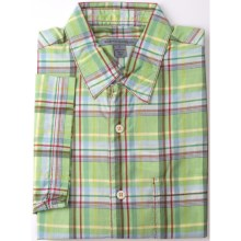 Martin Gordon Large Check Shirt - Short Sleeve (For Men) in Light Green/Brown - Closeouts