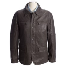 Martin Gordon Leather Jacket - Zip Front (For Men) in Brown - Closeouts