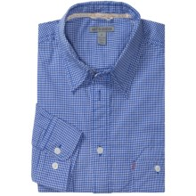 Martin Gordon Lightweight Sport Shirt - Long Sleeve (For Men) in Blue Mini Check - Closeouts