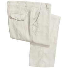 Martin Gordon Linen Pants - Flat Front (For Men) in White - Closeouts