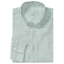 Martin Gordon Linen Shirt - Long Sleeve (For Men) in Blue Bell - Closeouts